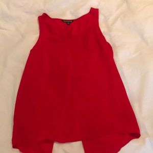 Red tank with slit in back